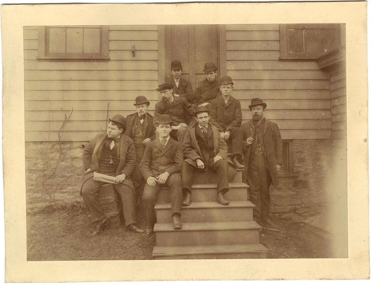 Albumen print of the employees of Brashear's Mechanical Department, Aug. 1894, Heinz History Center.