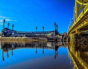 ALT:The downtown side of the Clemente Bridge, Summer 2015. | Your #Pixburgh Photo Album | #Pixburgh: A Photographic Experience