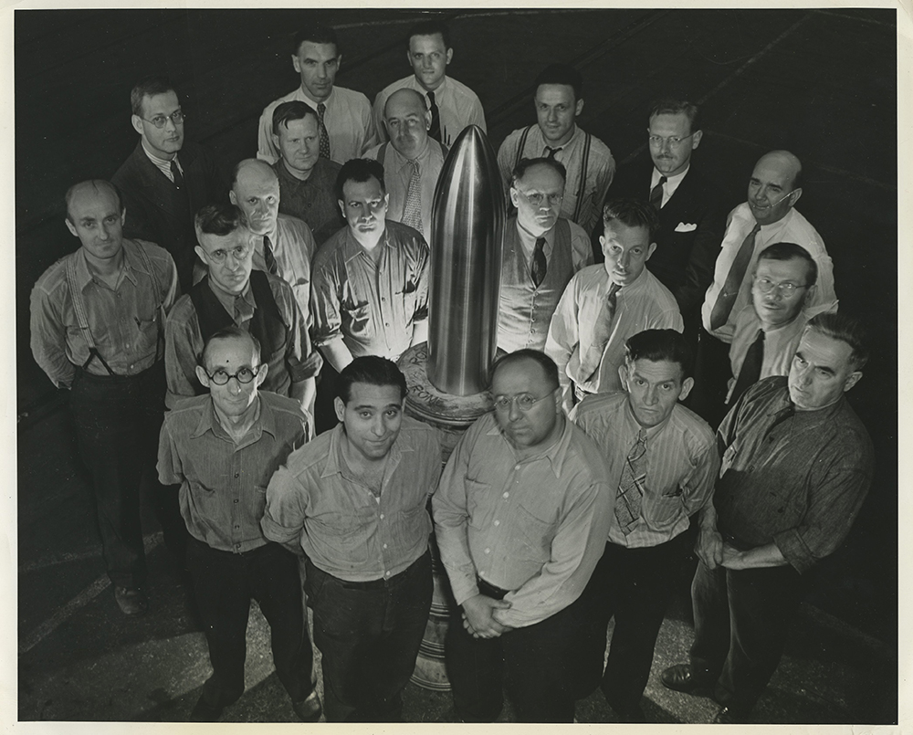 The workers who helped build the Time Capsule.