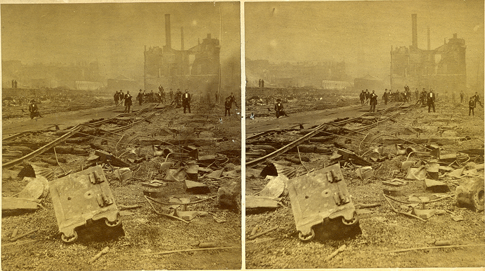 """S. V. Albee, """"No. 33. Rear of Union Depot extended to this point,"""" 1877. 