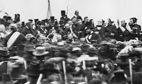 Lincoln after delivering his Gettysburg Address.