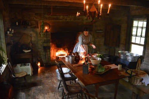 Open-hearth cooking demonstration | Meadowcroft Rockshelter and Historic Village