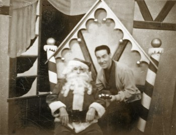 """Kids tuned in to Paul Shannon's """"Adventure Time"""" each December to see their letters sent by rocket to Santa, played here by Heid. Photo courtesy of Jim Heid."""