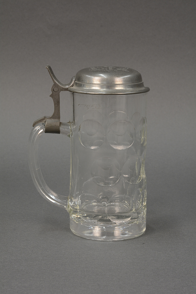 Beer stein from Hammel's Café, 1910s; currently on view in American Spirits.