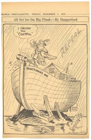 Cyrus Hungerford cartoon, Pittsburgh Post-Gazette, Dec. 1, 1933