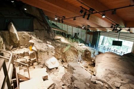 Inside of the Meadowcroft Rockshelter.