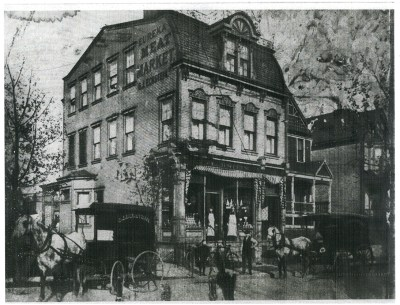 The Eureka Meat Market in Shadyside, 1910.