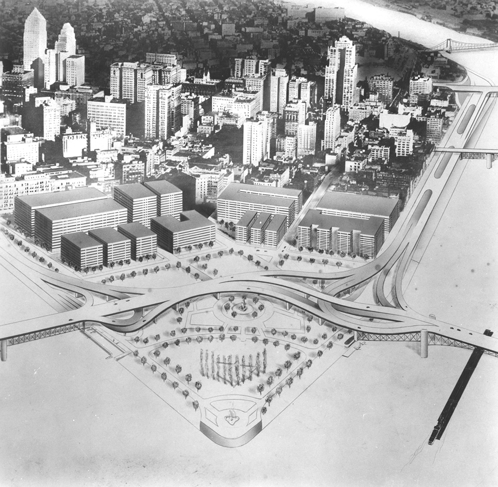 Golden Triangle Concept, 1947. Allegheny Conference on Community Development Photographs, MSP 285, Detre Library & Archives at the History Center.