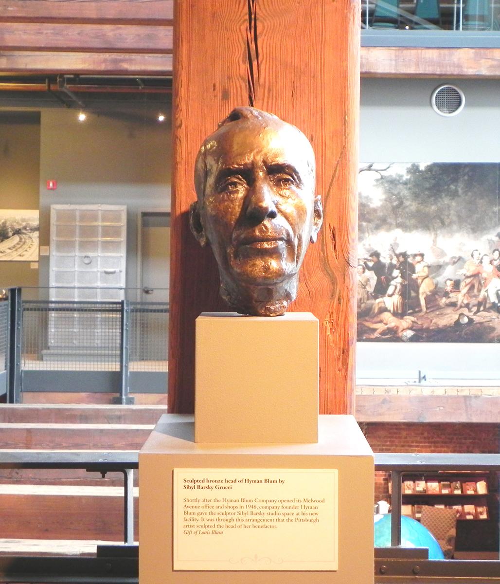 Sibyl Barsky, Bust of Hyman Blum, bronze, c. 1946. Heinz History Center museum collections. Gift of Lois Blum.