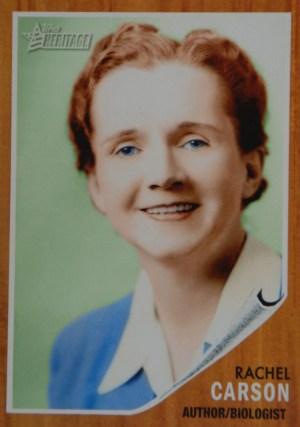Rachel Carson TOPPS card, 2009.