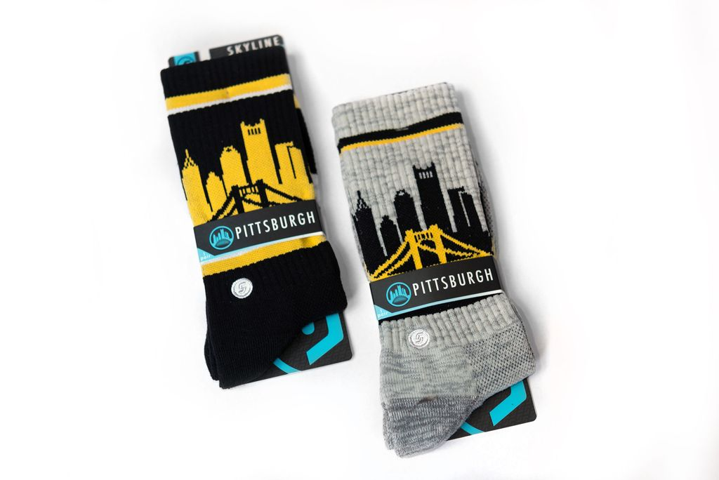 Pittsburgh Skyline Socks