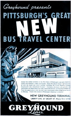 A newspaper ad announced the opening of Pittsburgh's terminal, March 13, 1937.