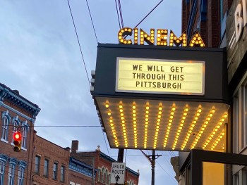 """""""We will get through this Pittsburgh."""" Photo by Carly Lough. Detre Library & Archives at the History Center."""