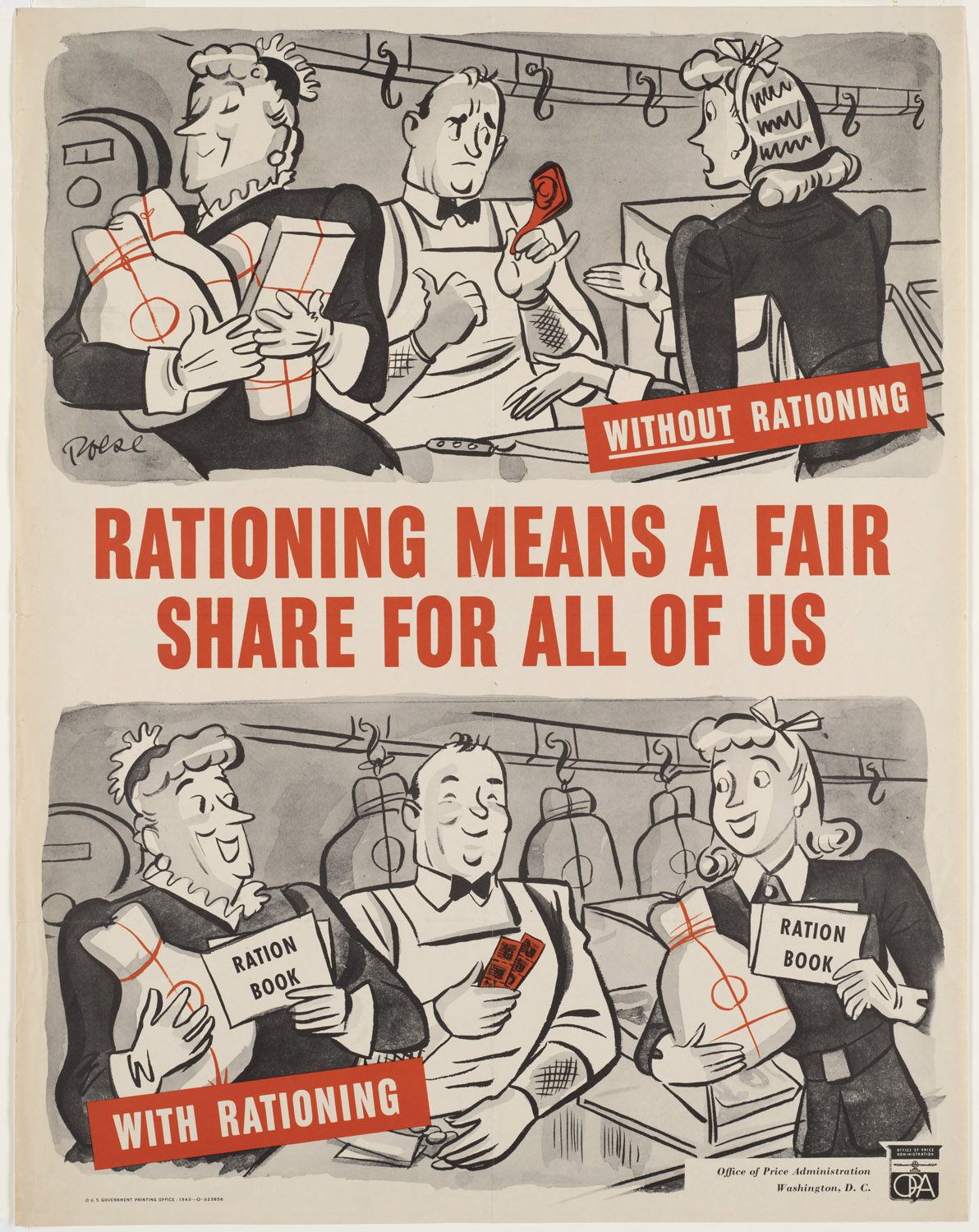 Rationing Means a Fair Share for Us All, U. S. Office of Price Administration, 1943. Courtesy of the Boston Public Library.