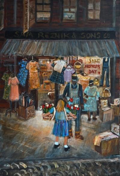 """""""Mother's Day on Logan Street,"""" by Rochelle Blumenfeld. Courtesy of Rochelle Blumenfeld."""