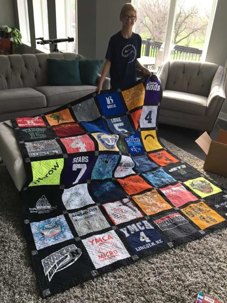 T Shirt Quilt Layout