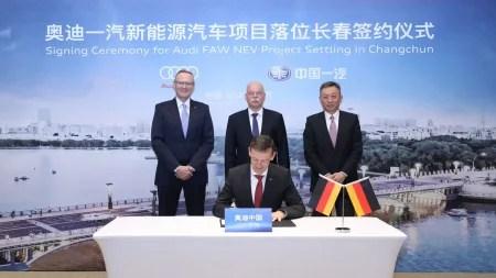 Audi baut mit Partner FAW Elektroauto-Fabrik in China