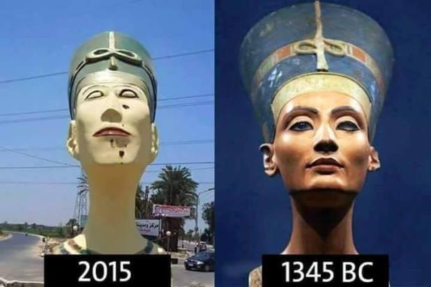 تمثال نفرتيتي المشوه (4)