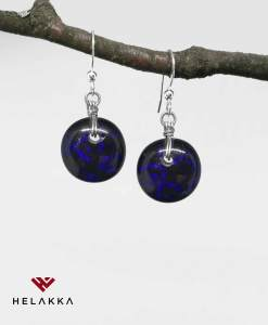 Helakka lasikorvakorut violetti