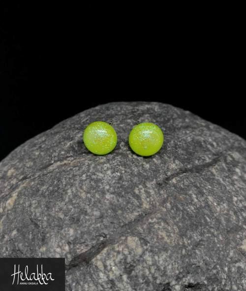 Helakka lasikorvakorut vihreä