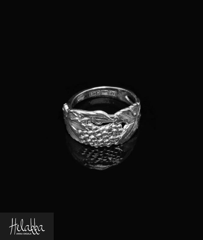 Helakka lusikkasormus hopea rypale