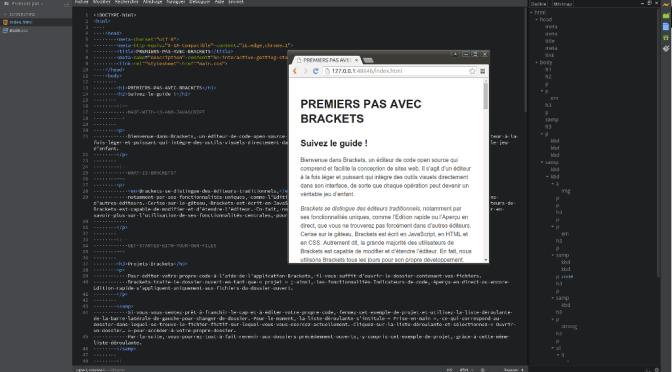 Brackets -Un éditeur open source à la page du web-design.