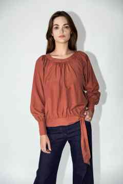 blouse betty terracotta