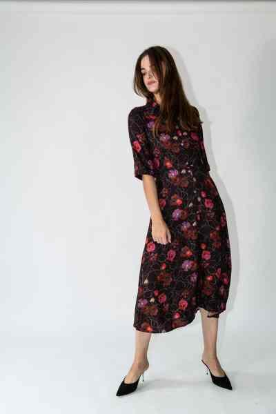 dafina dress red flowers
