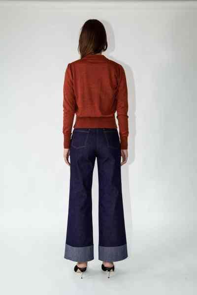 knitwear cara cardigan terracotta