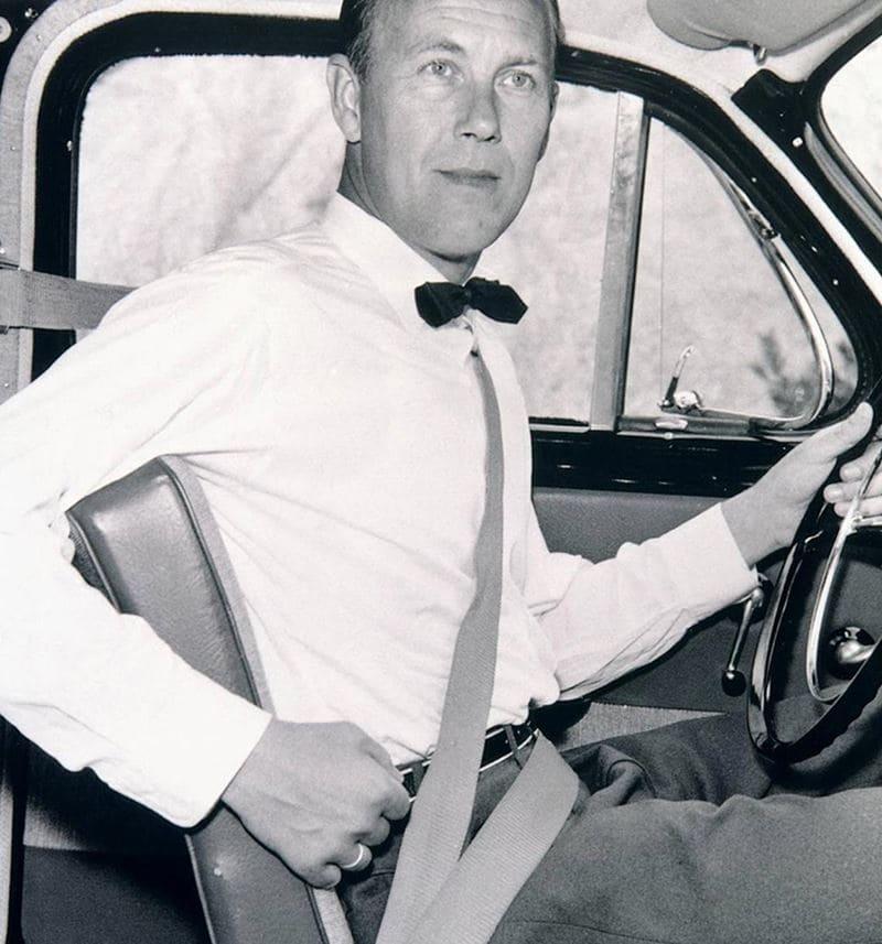 Volvo'nun icad ettiği emniyet kemeri tasarımı