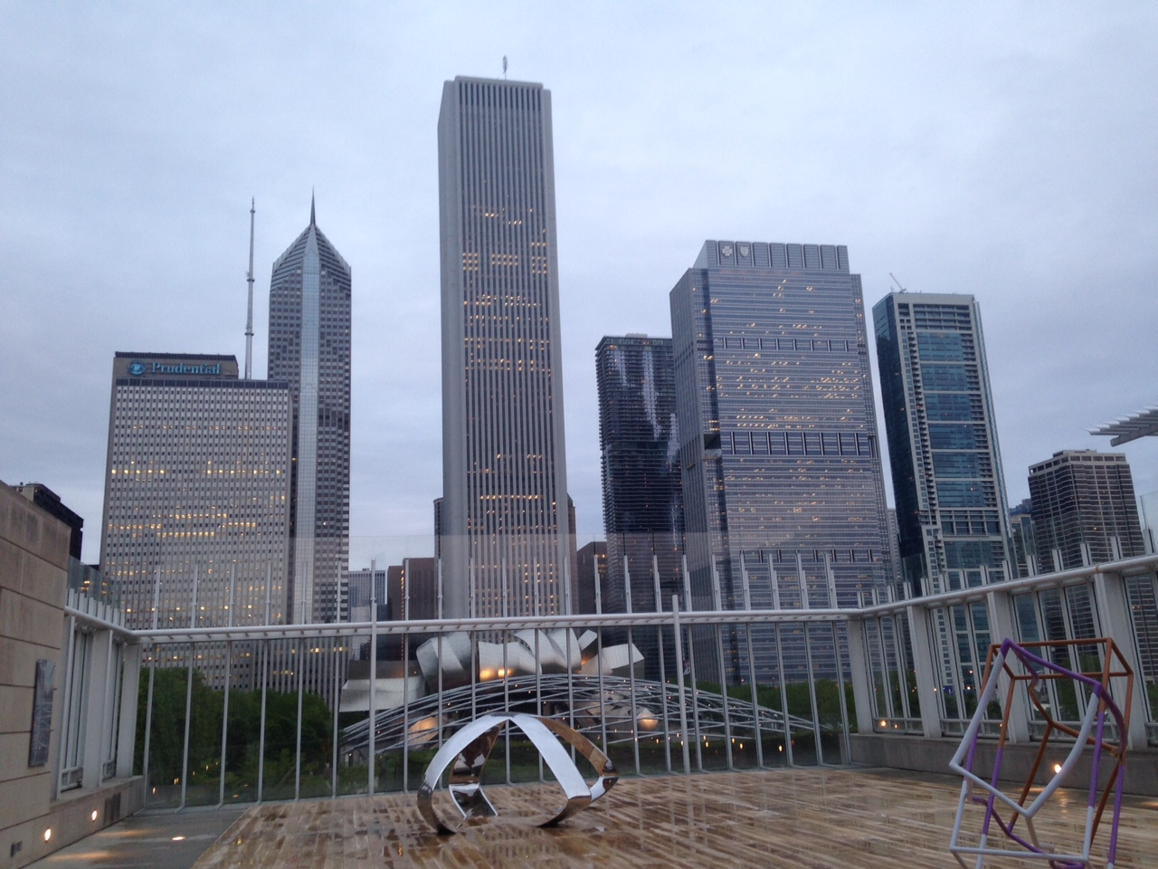 Chicago Skyline from Art Institute