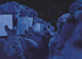 Turandot - Sininen kuoro, 2012, 41 x 62 cm, vapaa