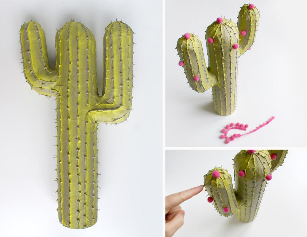DiY Cactus En Carton Et Papier Mch