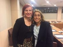 Avec Fabienne Blineau, conseillère AFE et suppléante d'Alain Marsaud
