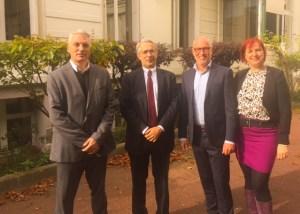 La délégation néerlandaise avec Philippe Sanson, directeur du CLEISS