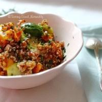 Quinoa à la courge butternut rôtie et choux de Bruxelles #vegan