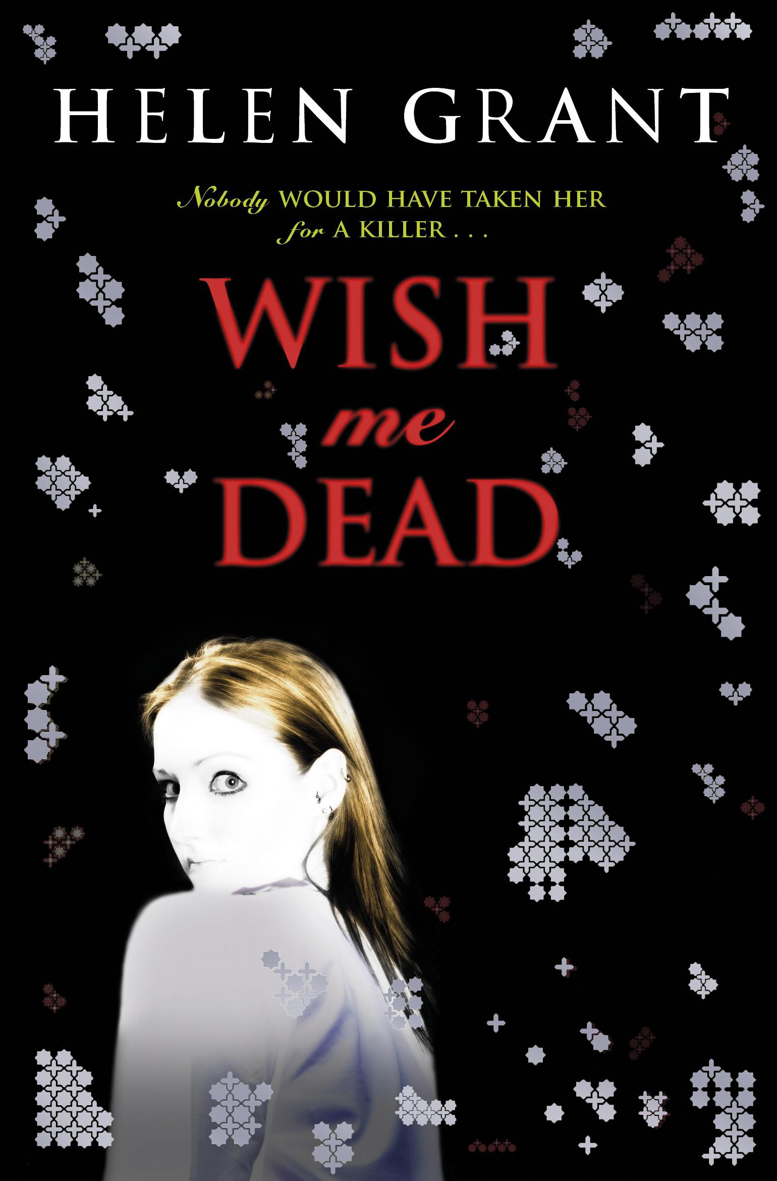 Buchcover; schwarzer Hintergrund, rote Schrift, Mädchen, das sich umdreht und den Leser anaschaut