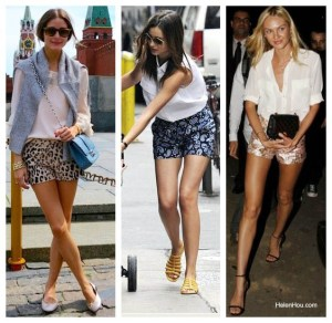 The Art of Balancing: Classic White Blouse Meets Bold Printed Shorts