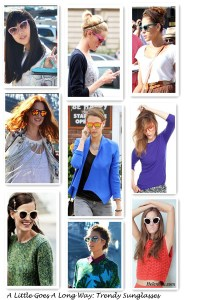 A Little Goes A Long Way:  How Sunglasses Complement Your Looks