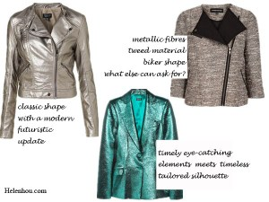 Casual Shimmer: Tone Down Metallic Pieces
