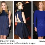 Glamorous In Blue (Holiday Dresses For Different Body Shapes)