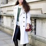 Street Style: White Coat & Sporty Beanie