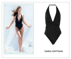 Black Allure: Miranda Kerr in Swimsuit