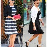 Sweet Monochrome: A-line dress & Bright Splashes