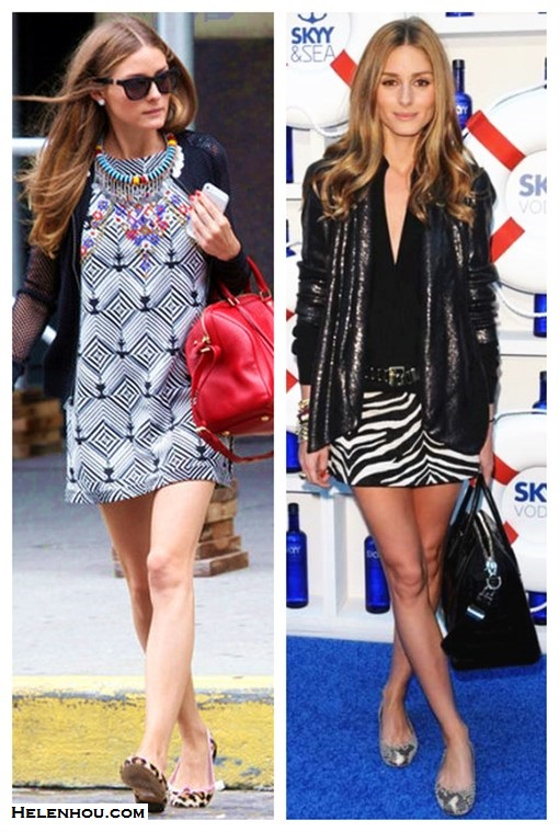 how to wear black and white; how to wear prints, how to wear sequins; how to wear animal prints; Olivia Palermo; party outfit, street style, spring/summer, geo print dress, leopard flats, snakeskin flats,sequin blazer,zebra skirt, red bag, Givenchy Antigona,  On Olivia Palermo: Westward Leaning Lousiana Purchase   Sunglasses, Free People black and white shift dress, Louis   Vuitton duffel red bag, Express Mesh Baseball Jacket,   Pretty Ballerinas Rosario Leopard Print ballet flats,   ethnic bold statement necklace;  On Olivia Palermo: Diane von Furstenberg black sequin jacket,  Stuart Weitzman snake print ballet flat, Zara sebra skirt, Givenchy Antigona bag;