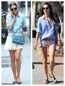 Chambray Shirt: Refined Girly or Tomboy Chic