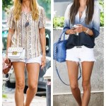 Summer Shorts: White Denim & Exotic Top (Part III)