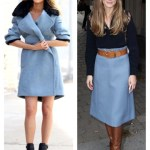 Fall Pastels: Baby Blue Coat and Skirt