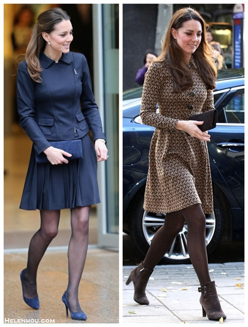 Kate Middleton style,party outfit ideas 2013, brown coat dress, brown suede booties, brown clutch,navy pleated skirt, navy jacket, navy suede pump, navy suede clutch  On Kate Middleton: Annoushka Favourites Pearl Earrings,   Orla Kierly Crepe navy blue pleated skirt, Max Mara navy   jacket, Stuart Weitzman for Russell and Bromley navy muse   clutch, Alexander McQueen blue pointy toe pump,   On Kate Middleton:Kiki McDonough Eternal 18k Gold Citrine   Pear-Drop Earrings,Orla Kiely Birdie Shirt   Dress,Aquatalia brown booties