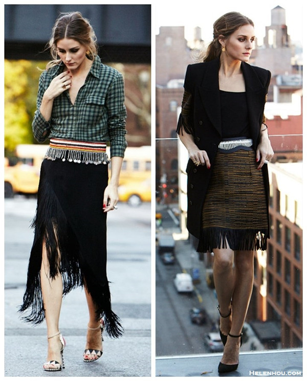 254595a37e how to wear Tassels and Fringes, how to wear gingham, Olivia Palermo, street